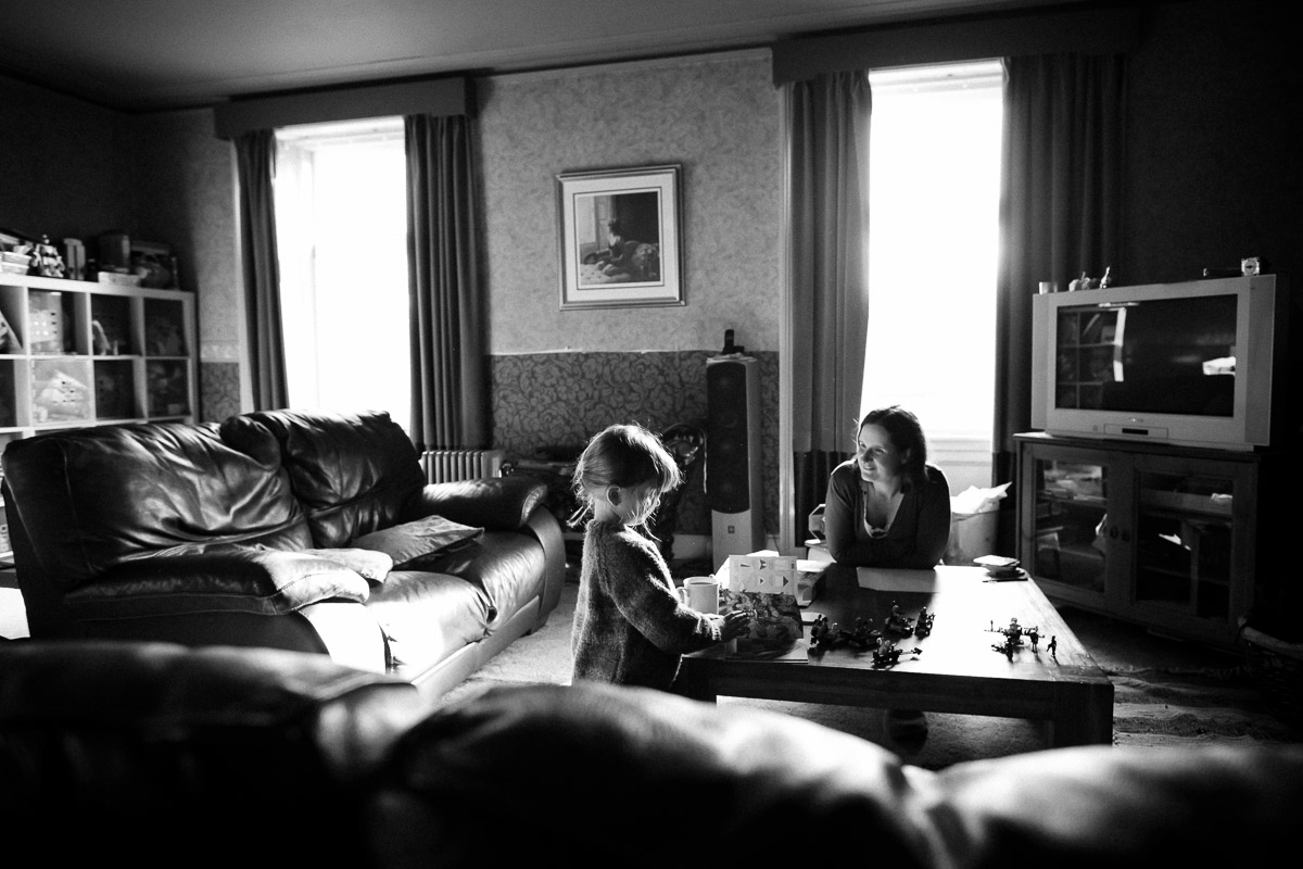 Mother and daughter play together in Greenlaw Scottish Borders family photography session