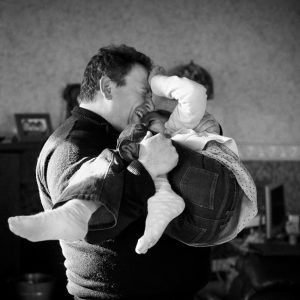 Father and daughter tickling in Greenlaw Scottish Borders family photography session
