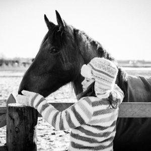 Girl and horse in Coldstream Scottish Borders family photography session