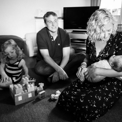 Family at home with newborn in Jedburgh Scottish Borders family photography session
