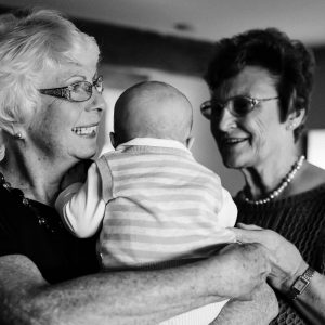 Grandmothers cuddling baby boy in Kelso Scottish Borders family photography session