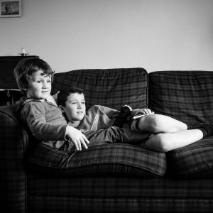 Brother snuggling in Earlston Scottish Borders